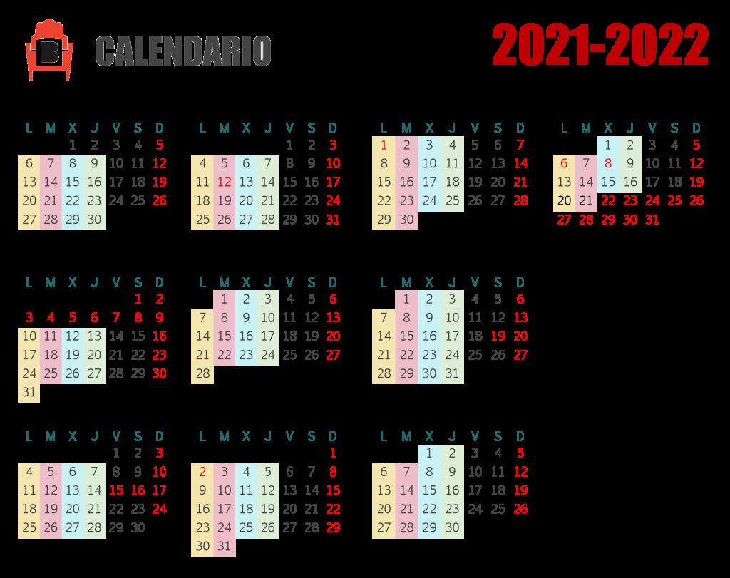Calendario de clases para el curso 2021-2022